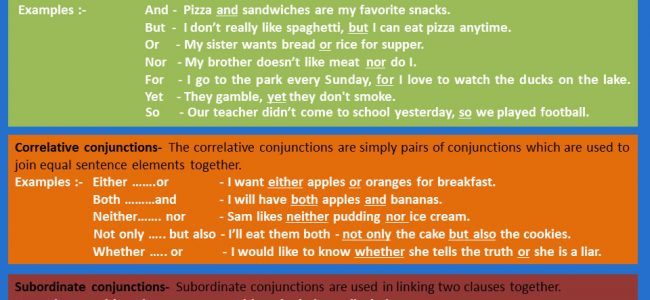 conjunctions-in-english