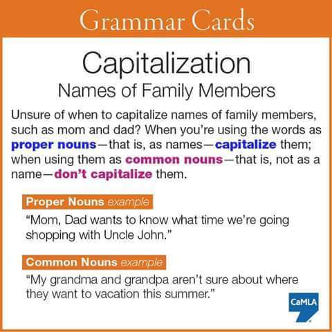 grammar cards capitalization