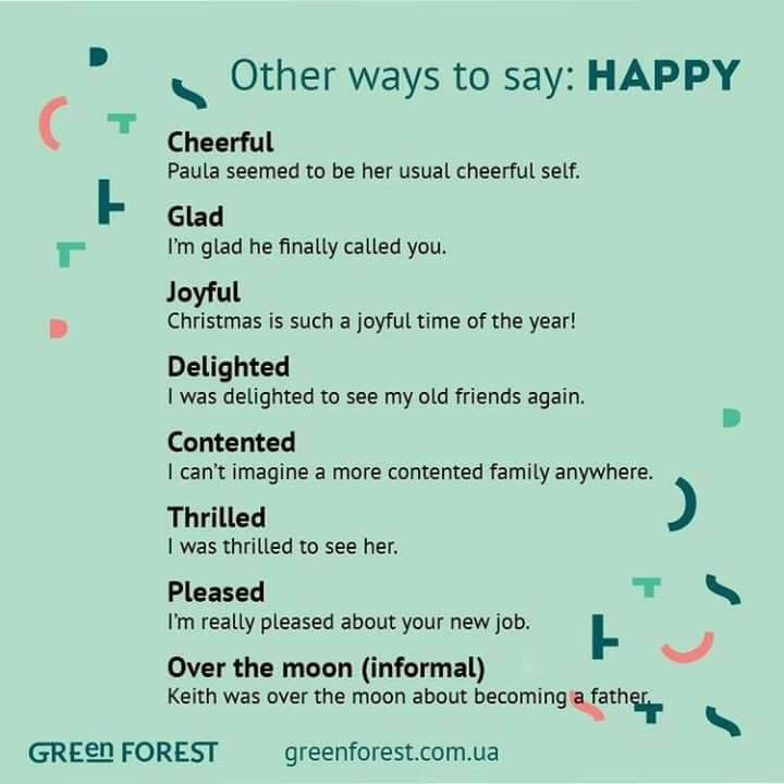 other ways to say happy and funny