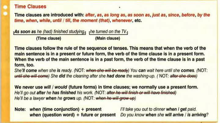 time-clauses