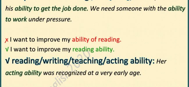 using-ability-in-english