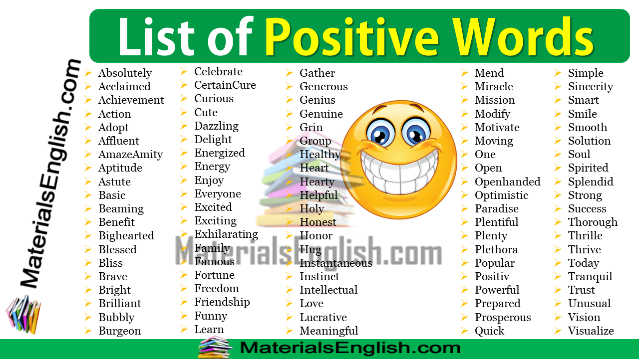 List of Positive Words